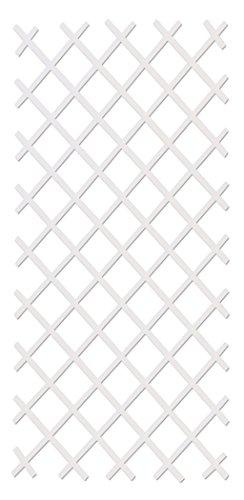 intermas 170102 Celosía de Plástico, Blanco, 25X2X100 cm