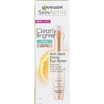 Garnier SkinActive Clearly Brighter Sheer Tinted Eye Roller, Light/Medium, 0.5 Fl Oz