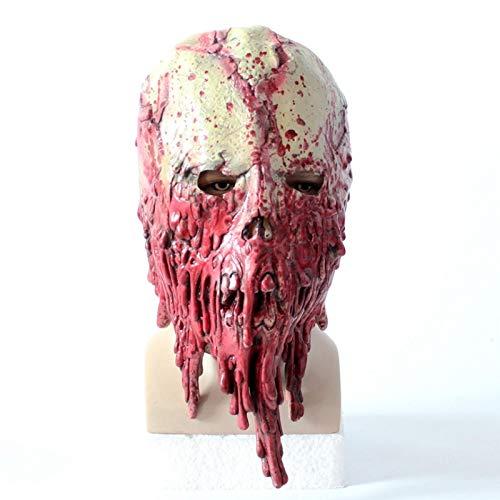 baoqsure Halloween Beängstigend Erwachsene Männer Blutig Zombie Skelett Gesicht Maske Kostüm Horror Latex Masken Cosplay Phantasie Maskerade Requisiten
