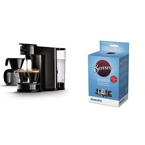 Senseo HD7892/60 Switch 2-in-1 Kaffeemaschine für Filter, Schwarz mit Entkalker HD7012/00