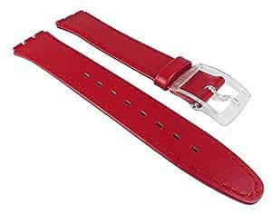 Swatch Ersatzband Uhrenarmband Leder Band 16mm Rot für Apasionada ASFK001