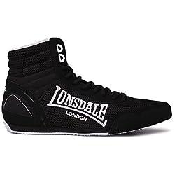 Lonsdale Hombre Contender–boxschuhe Cajas Botas Sport Extra Ligero Guantes, Color Gris, Talla 44 EU