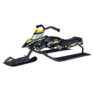 Sunzy Kindersnowboard-Motorschlitten mit Lenkrad und Bremsen Winterunterhaltung im Freien für Erwachsene und Kinder