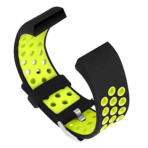Damen Herren Ersatzarmband Sport Band kompatibel für Fitbit Charge 2 Armband Verstellbares, Klassisch Armbänder Einstellbare Ersatzband für Fitbit Charge 2 Aktivitäts Tracker, Klein Groß