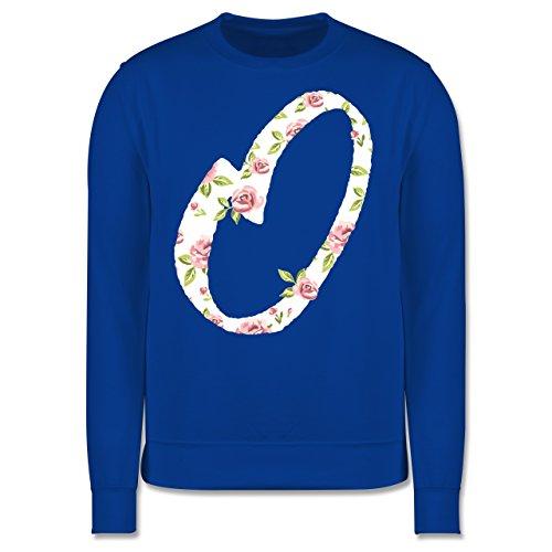 Anfangsbuchstaben - O Rosen - Herren Premium Pullover Royalblau