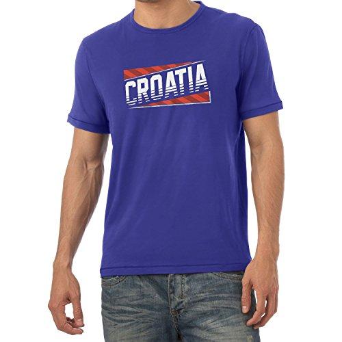 Texlab Team Croatia - Herren T-Shirt, Größe M, Marine (Marine-blau-team-fußball-t-shirt)