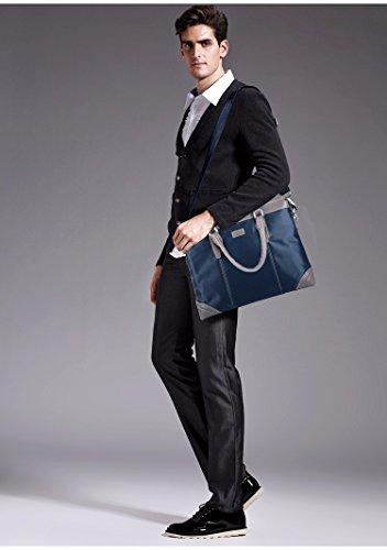 Männer Die Handtasche, Wasserdichte Oxford Tuch, Lässig, Aktentasche, Großer Umhängetasche, Business - Tasche, Computer - Tasche (Größe: 37 * 28. * 6 Cm) blau