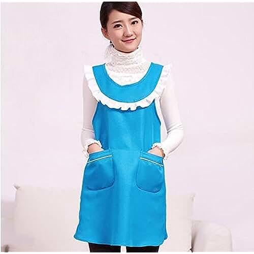 ropa primavera kawaii Modelos femeninos japoneses kawaii lindo delantales de tela vestido de la correa H uniforme vida en el hogar ( Color : # 1 )