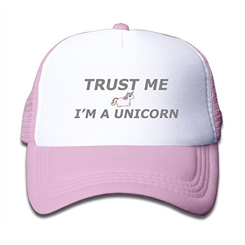Doormat shirt Trust Me Im A Unicorn Fun Jokes Children Mesh Trucker Cap Adjustable Fashion Kids Mesh Snapback Hat Trucker Caps Pink (Me Strap Womens Up)