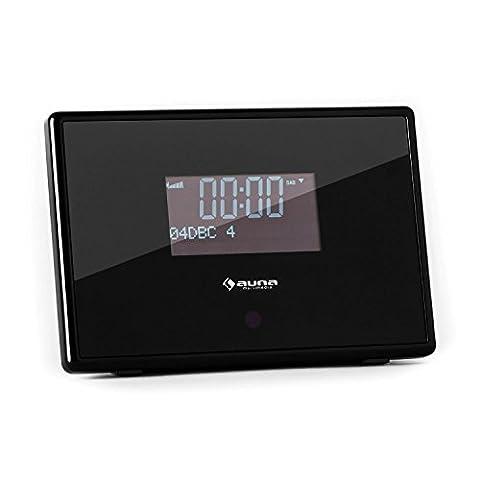 auna Dabstar • Radiowecker • Digitalradio • DAB+ / UKW-Tuner • Erweiterung bestehender Stereoanlagen / HiFi- und Surround-Systeme • LCD-Display • RDS • Uhrzeitanzeige • 2 Wecker • programmierbarer Sleep-Timer • Snooze • Dimmfunktion • Fernbedienung •