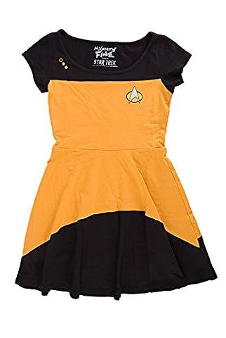 Costumes Star Trek Robe - Star Trek The Next Generation Juniors Gold