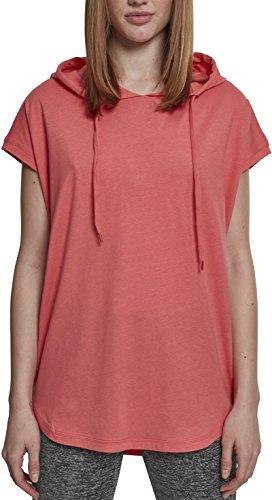 Urban Classics Damen T-Shirt Ladies Sleeveless Jersey Hoody, Rosa (Coral 00092), XXXXX-Large (Herstellergröße: 5XL)