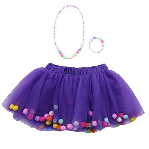 Amphia - Kinder Carnival Tutu - Mesh Rock - Tutu Rock - 3 Stücke Hohe Qualität Baby Mädchen Kinder Tutu Ballett Röcke + Armband + Halskette Party ()