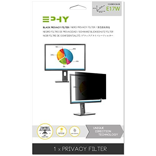 EPHY Privacy Filter / Anti-Glare / Screen Protector for Laptop TFT Monitor Desktop PC LCD LED Screen - Compatible with Apple iMac Macbook DELL SAMSUNG ACER V7 3M IBM LENOVO HP COMPAQ AOC ACER ASUS SHARP LG NEC (17