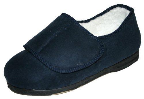 Refroidisseurs des femmes confort douillet extra large velcro lavable EEE Orthopaedic pantoufles