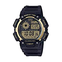Casio G-Shock Gold Black Rubber Casual Watch For Men - AE-1400WH-9AVDF