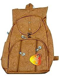 Noor Enterprises Women's Backpack Stylish And Trendy Brown Color Handbag For Girls