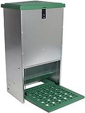 VOSS.farming Automatischer Futtertrog Feedomatic 20kg, Geflügelfutterautomat für Hühner, Gänse, Enten
