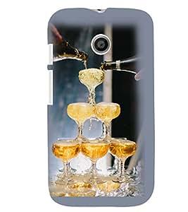 Printvisa Wine Glasses Pyramid Back Case Cover for Motorola Moto E XT1021::Motorola Moto E (1st Gen)