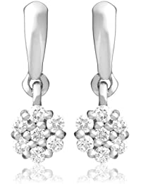 Diamond Earrings, 18ct White Gold, Diamond Drops, 0.21 carat Diamond Weight, by Miore, M0818PW