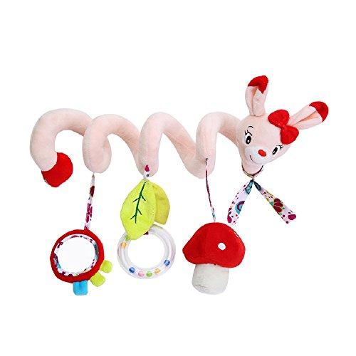 Jouet de Poussette bébé Hochet Jouets Animales en Peluche Spirale d'activités Hanging Jouets Berceau
