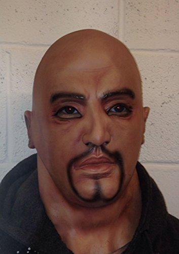 B-Creative Premium realistische Latex-Maske schwarzen männlichen Mann verkleiden Halloween Goatee Bart Sekunden UK Outfit (Verkleiden Männer Halloween)
