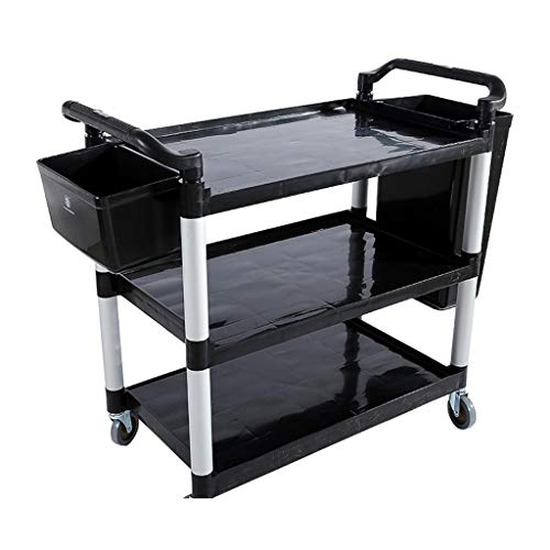 CL-Regalwagen Tool Cart - Dickes Kunststoff Hotel Collecting Auto Trolley Collection Tray Car DREI-Tier-Service Car Rack * @ * (Color : B, Size : 79X49X97CM) (Restaurant, Cart)
