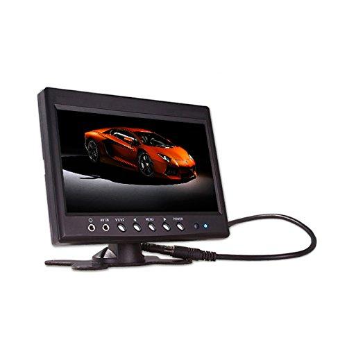 SAXOBUY Universal Stand-Alone Monitor 9 Zoll (22,9cm) aktive LCD Display mit 2X Video-IN, 1x Audio-IN - für Einbau- oder Aufbaumontage für Rückfahrkameras, DVD, Filme, TV, Konsolen, Frontkameras usw. Lcd Stand Alone Monitor