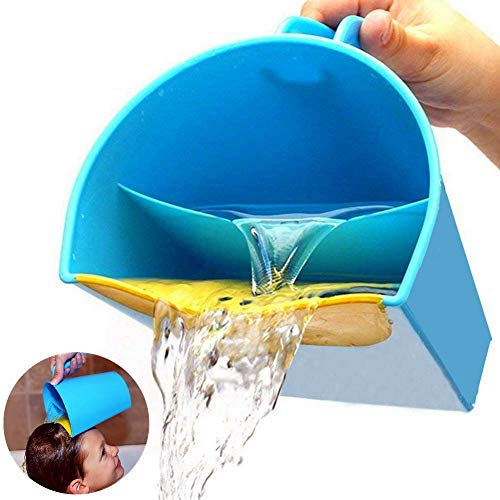 H.Yue Baby Shampoo Rinse Cup,Baby Bath Rinser Pail to Wash Hair and Wash Out Shampoo by Protecting Infant Eyes - Kids Bathing Without Tears (1pcs)