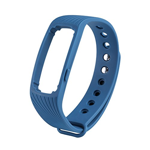 COOSA WristBand con multi-colore per ID107 banda braccialetto Smart Wristband Wireless Activity Bracciale Sport Arm Band nuovo Bluetooth intelligente frequenza cardiaca braccialetto multicolor sano Wristband sostituzione impermeabile (blu, ID107)