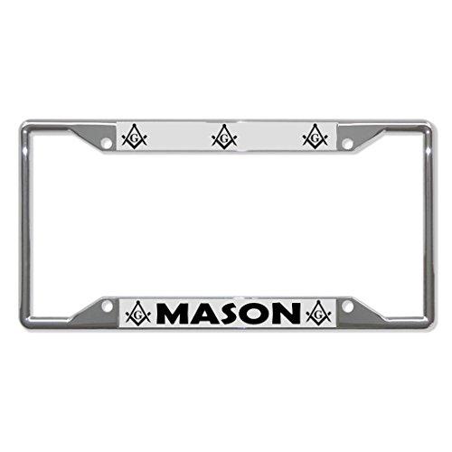 Mason Moson Metall-Kennzeichenrahmen mit 4 Löchern für Autos, für Herren und Damen, ideal für Autos