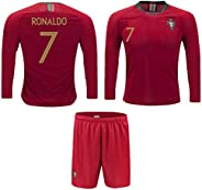 Portugal Cristiano Ronaldo #7 Soccer Jersey and Shorts Kids Youth Sizes Home and Away Football World Cup Premi