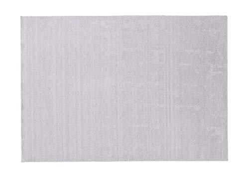 Schöner Wohnen Designteppich Victoria | Für Ihr Wohnzimmer in Silber, Ökotex Zertifiziert, Größe: 170x240 cm, mit original Steffensmeier Unterlage