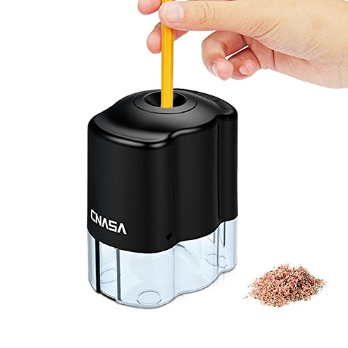 Elektrischer Bleistiftspitzer,CNASA Automatischer Heavy Duty Bleistift-Anspitzer Auto-Stopp Spitzer...
