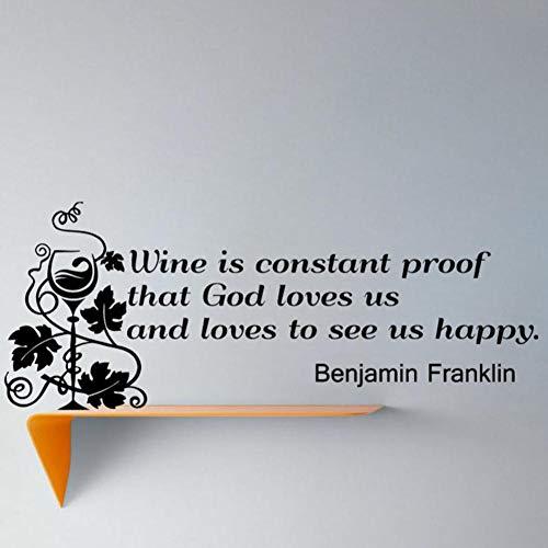 tändiger Beweis, Dass Gott Berühmte Sprüche Liebt Wandaufkleber Weinglas Wohnkultur Abnehmbare Wohnzimmer Aufkleber Wandbilder 59 * 21 ()