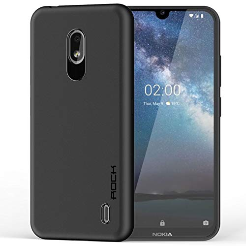 CareFone Back Cover for Nokia 2.2 (Shock Proof, Silicon) (Black)