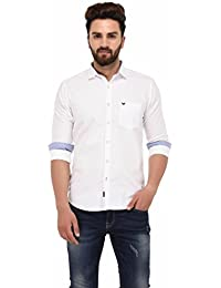 White Solid Full Sleeve Casual Shirt
