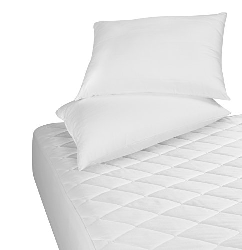 •ROHILinen• Silky Smooth 200 thread count Egyptian Cotton Quilted Mattress Protector, Extra Deep, Double Bed