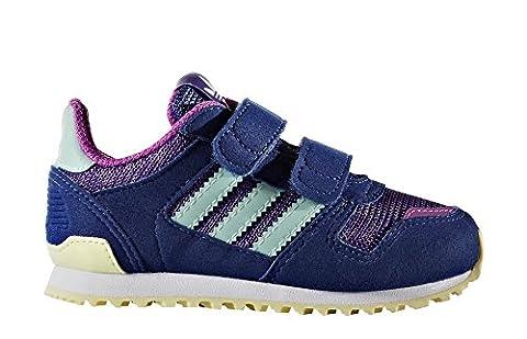 adidas Unisex Baby ZX 700 CF I Sneaker, Morado (Puruni / Verhie / Ftwbla), 20 EU