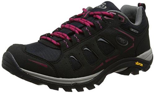 Bruetting Damen Mount Frakes Low Trekking- & Wanderhalbschuhe, Schwarz/Pink, 38 EU