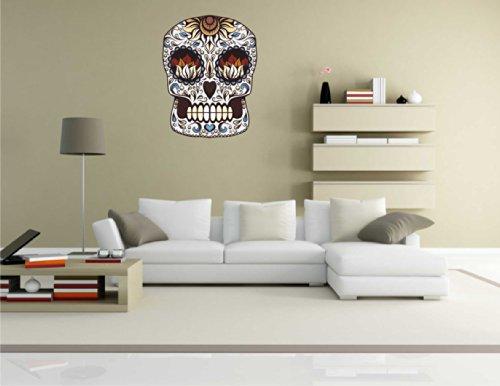 Adesivo da parete adesivo voody Skull Crazy-005-Decorazione da parete, 70 x 91 cm