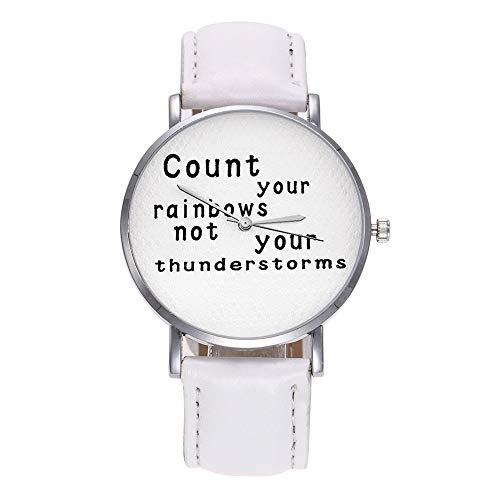 TianWlio Armbanduhren Damen Mode für Frauen Lederarmband Analoge Quarzglasspiegel Uhren