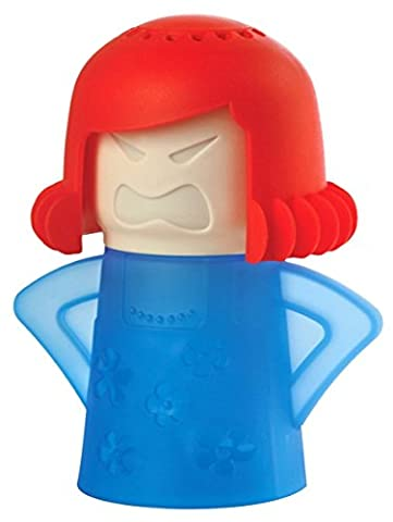 Angry Maman Microwave Cleaner, TankerStreet Angry Mummy Nettoie Les Fours Micro Ondes Sans Detergent -Base Bleue