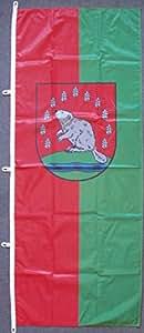 Flagge Fahne Beverstedt, ca. 400 x 150 cm Hochformat, 110 g/m² Polyesterwirkware