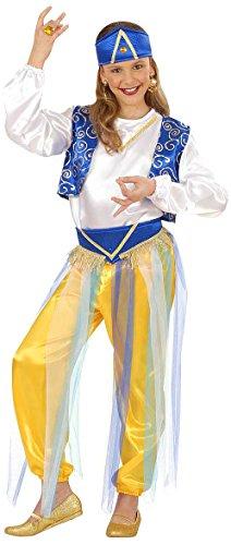 Widmann-55408 costume bambina principessa araba, jasmine 11/13 anni, blu/bianco/oro, 11-13 anni-158 centimetri, w5540-l