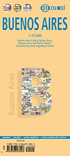 Buenos Aires, Borch Map: Buenos Aires Centre, Núnez, Boca, Isla Martín Garcia, Greater Buenos Aires, Central Argentina (Borch Maps)