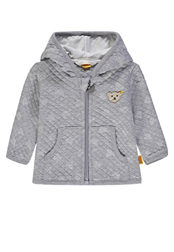 Steiff Steiff Unisex Baby Sweatjacke 1/1 Arm, Grau (original|Multicolored 0004) 56