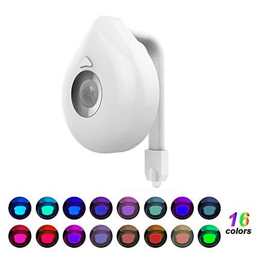 16-color Led Luz Del Inodoro Sensor De Movimiento