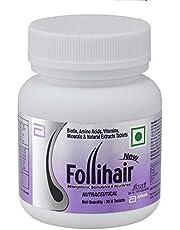 Generic Abbott New Follihair Biotin, Amino Acids, Vitamins, Minerals and Natural Extracts Tablets (30 N)