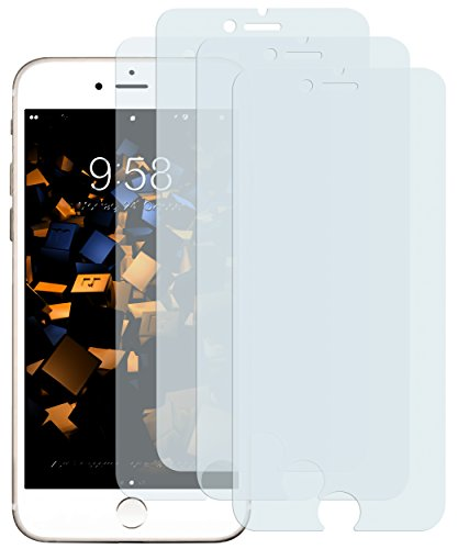 mumbi 4 x Displayschutzfolie für iPhone 8 / iPhone 7 Folie Schutzfolie (bewusst Kleiner als das Display, da Dieses gewölbt ist)